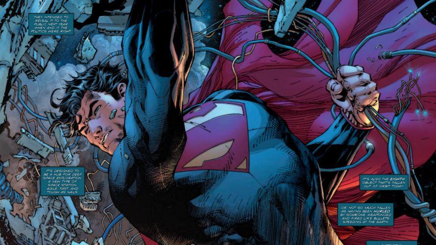 Superman in Space wallpaper