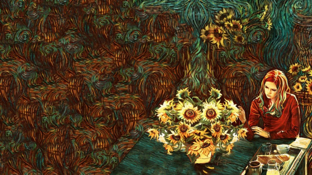 Amy Pond Van Gogh wallpaper