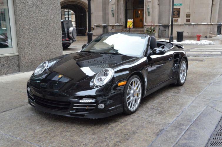 2012 Porsche 997 turbo-s convertible black germany wallpaper
