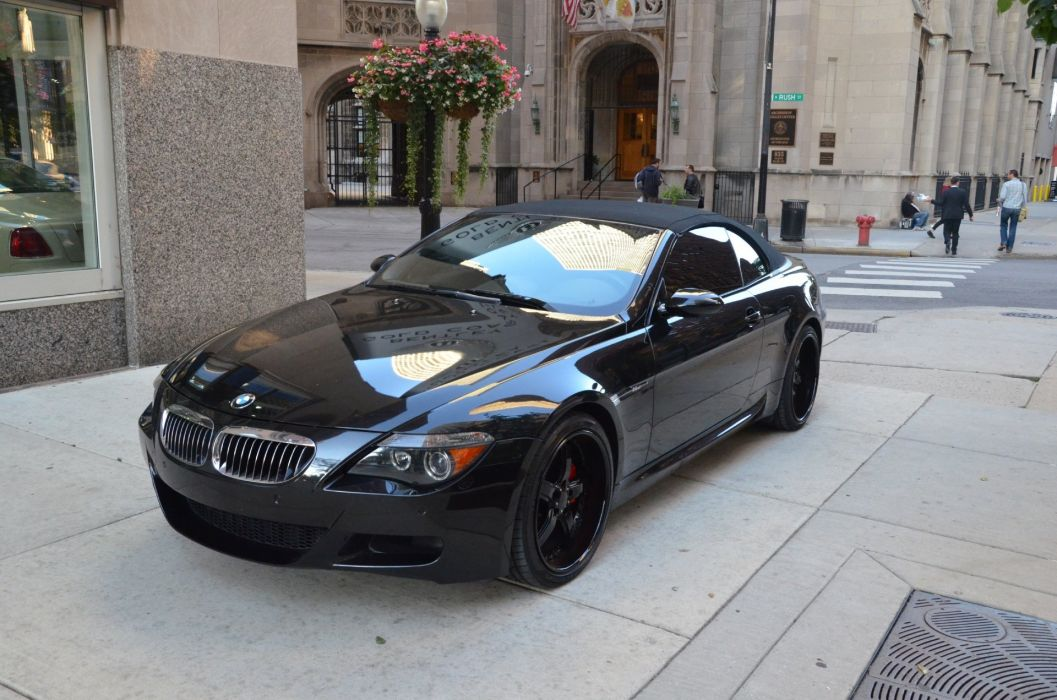 2007 BMW M6 convertible cabriolet black wallpaper