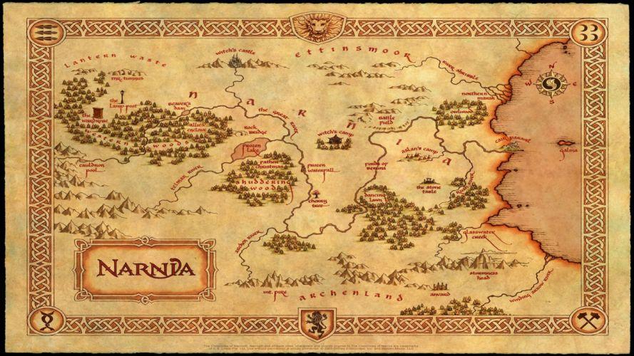 Narnia Map wallpaper