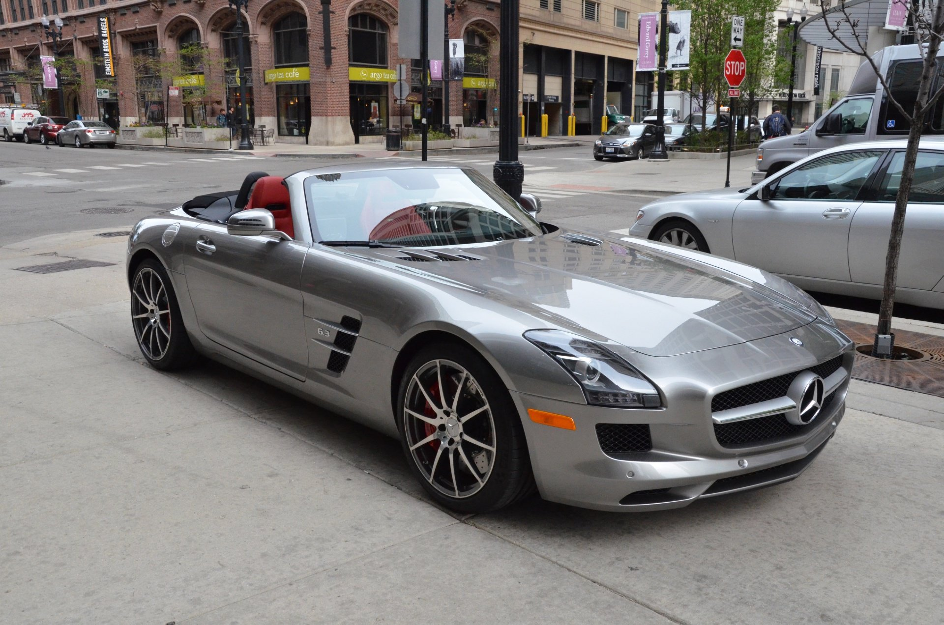 2012 Mercedes SLS amg convertible cabriolet germany SILVER wallpaper    Mercedes Sls Amg Convertible