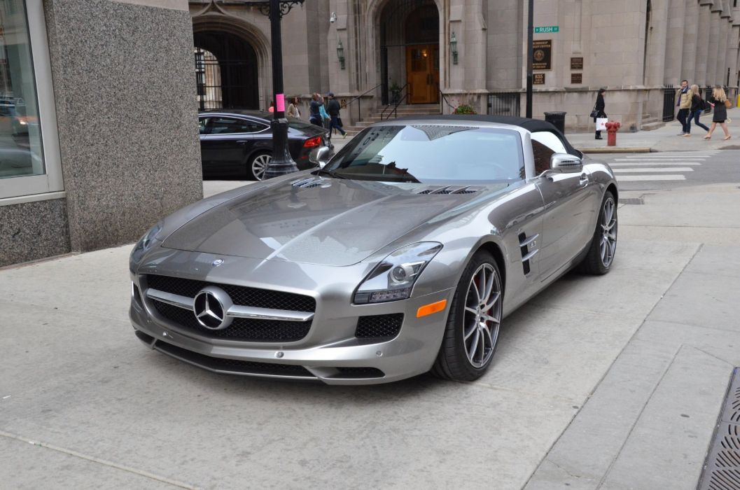 2012 Mercedes SLS amg convertible cabriolet germany SILVER  wallpaper