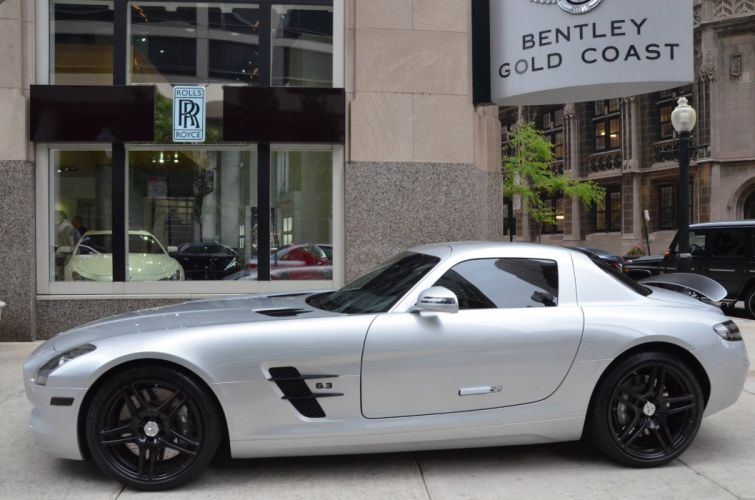 2011 Mercedes SLS amg coupe germany SILVER wallpaper