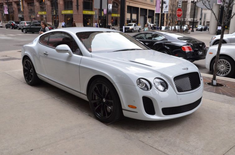 2010 Bentley white Continental supersports coupe uk wallpaper