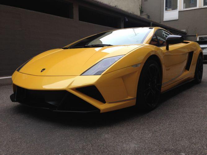 2013 Lamborghini Gallardo LP 570-4 Squadra Corse Italian Dreamcar Supercar Exotic jaune yellow giallo wallpaper