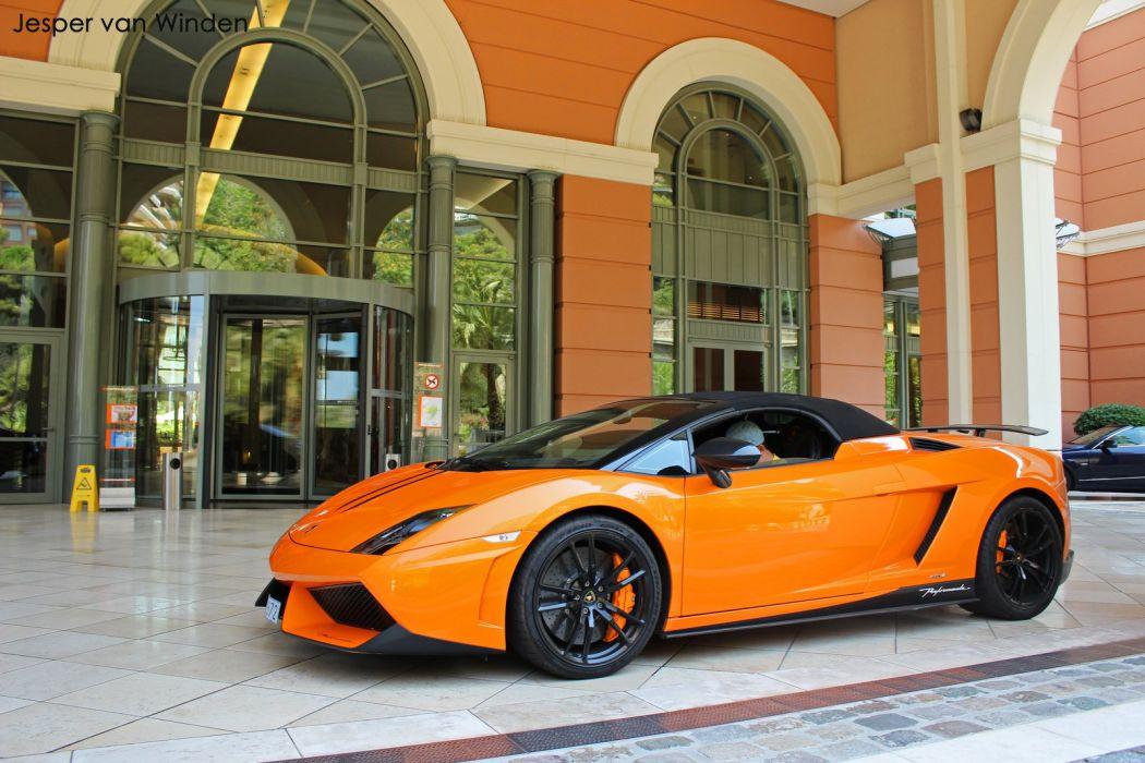 Lamborghini Gallardo LP570-4 Spider Performante Cabriolet Convertible Roadster Italian Dreamcar Supercar Exotic  Sportscar orange arancione  wallpaper