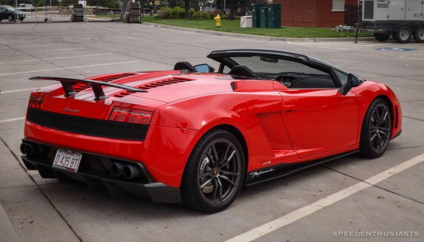 Lamborghini Gallardo LP570-4 Spider Performante Cabriolet Convertible Roadster Italian Dreamcar Supercar Exotic Sportscar rouge red rosso wallpaper
