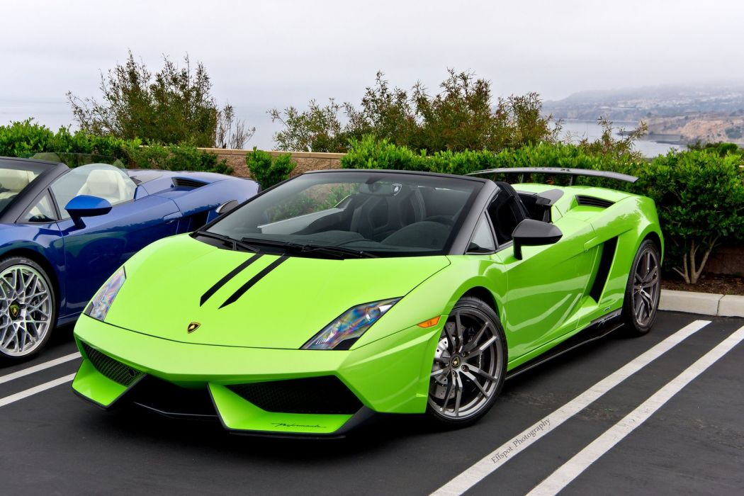 Lamborghini Gallardo LP570-4 Spider Performante Cabriolet Convertible Roadster Italian Dreamcar Supercar Exotic  Sportscar verte green verde wallpaper