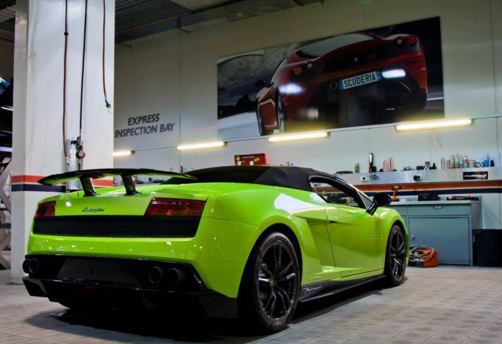 Lamborghini Gallardo LP570-4 Spider Performante Cabriolet Convertible Roadster Italian Dreamcar Supercar Exotic Sportscar verte green verde wallpaper