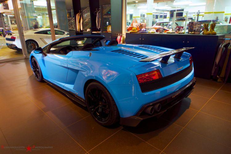 Lamborghini Gallardo LP570-4 Spider Performante Cabriolet Convertible Roadster Italian Dreamcar Supercar Exotic Sportscar blue bleue blu wallpaper