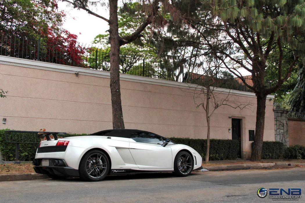 Lamborghini Gallardo LP570-4 Spider Performante Cabriolet Convertible Roadster Italian Dreamcar Supercar Exotic  Sportscar white blanc bianco  wallpaper