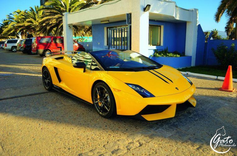 Lamborghini Gallardo LP570-4 Spider Performante Cabriolet Convertible Roadster Italian Dreamcar Supercar Exotic Sportscar jaune giallo yellow wallpaper