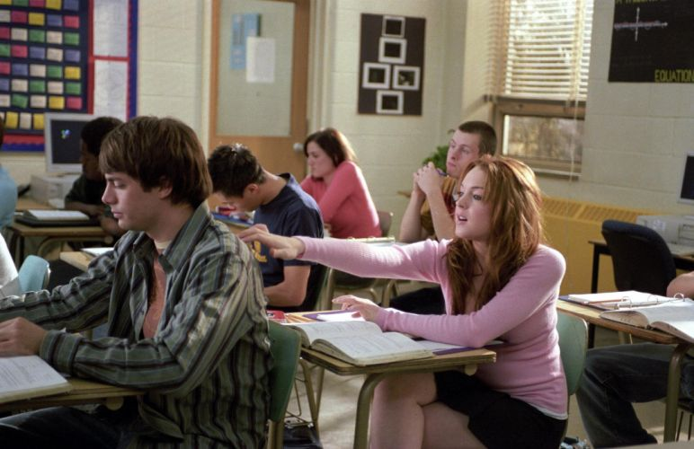MEAN-GIRLS teen comedy mean girls babe lindsay lohan (28) wallpaper