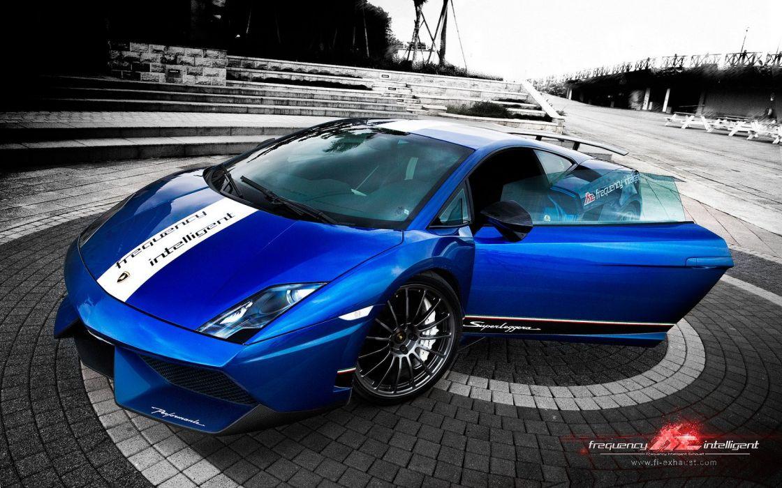 Lamborghini Gallardo LP 550-2 Valentino Balboni Italian Dreamcar Supercar Exotic bleue blu blue  wallpaper