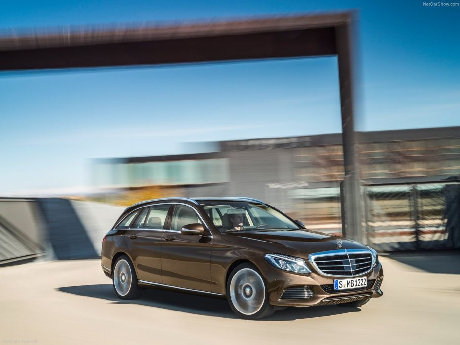 1204 Mercedes C-Classe c Estate break blue  marron bleue brown germany wallpaper