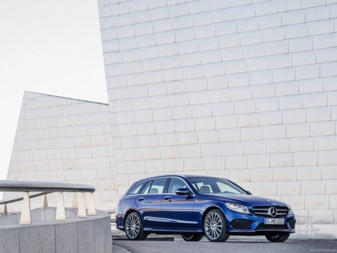 1204 Mercedes C-Classe c Estate break blue marron bleue brown germany wallpaper