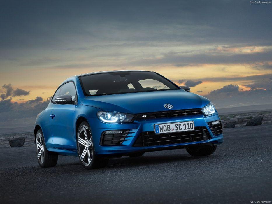 2014 Volkswagen Scirocco R car coupe germany bleue blue blu  wallpaper