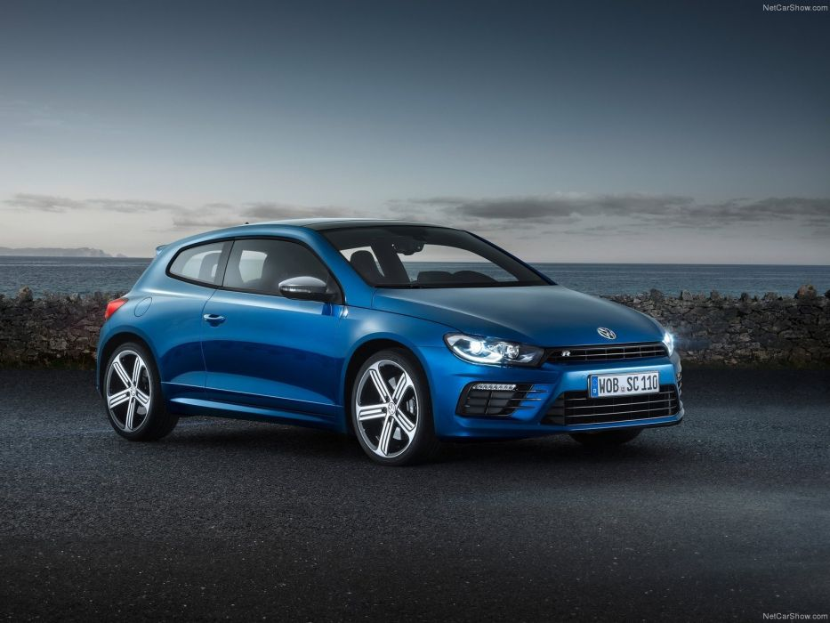 2014 Volkswagen Scirocco R car coupe germany bleue blue blu  wallpaper