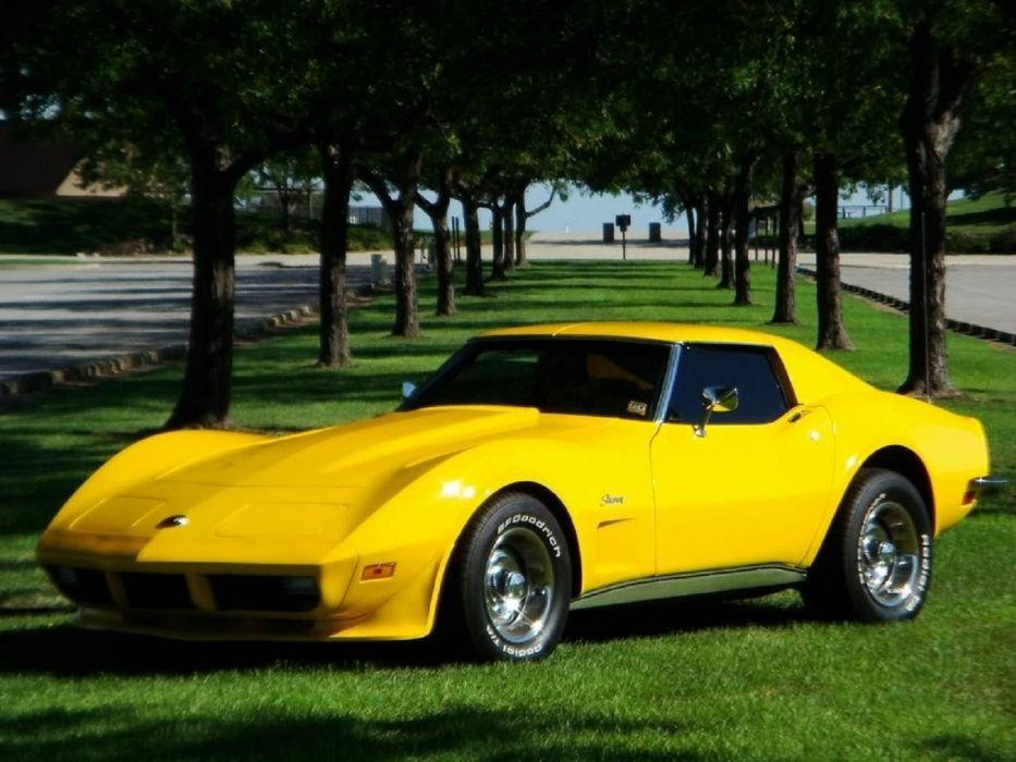Yellow Corvette Stingray wallpaper