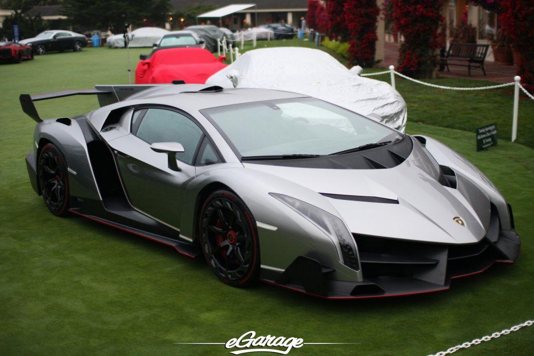 2013 Lamborghini Supercar supercars veneno concept car silver argento wallpaper