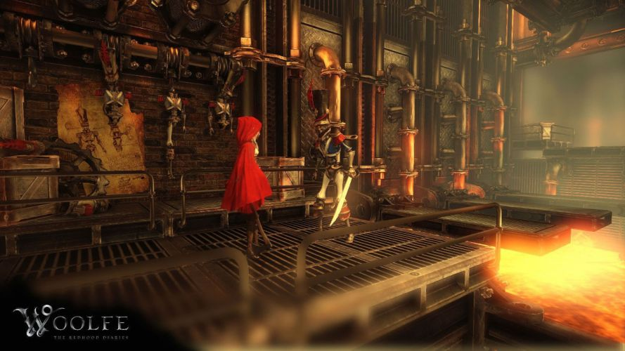 WOOLFE RED HOOD DIARIES platform fantasy fairytale steampunk action wallpaper
