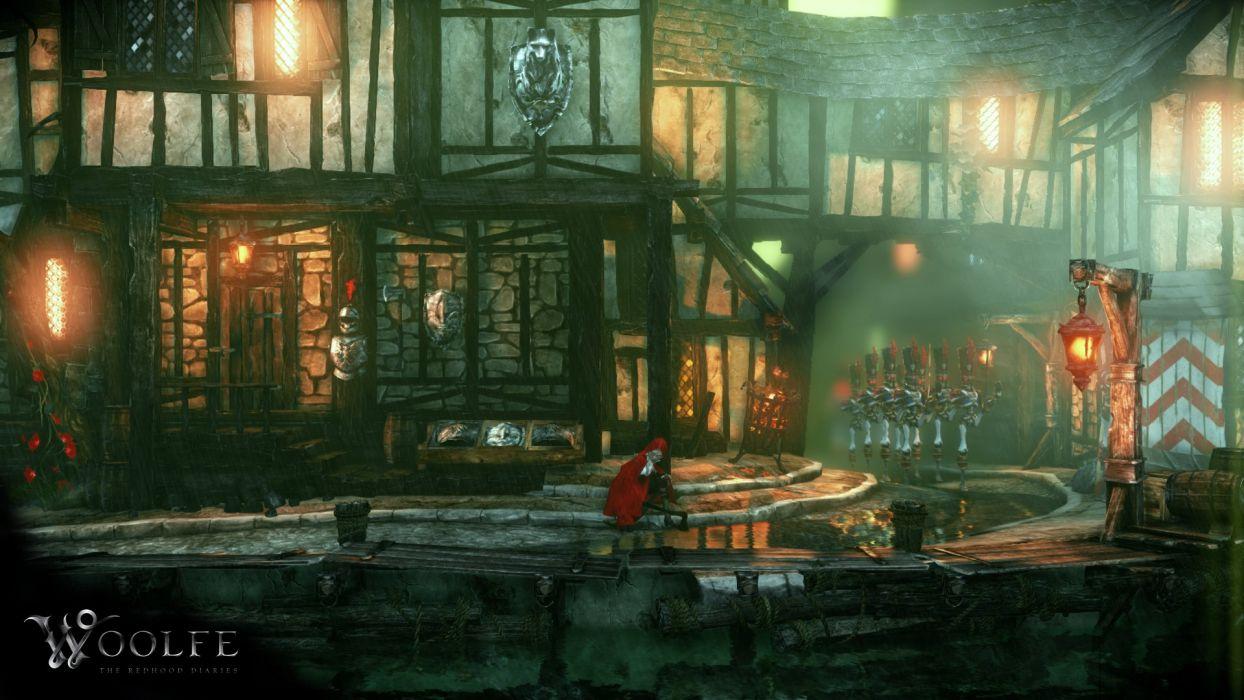 WOOLFE RED HOOD DIARIES platform fantasy fairytale steampunk action wallpaper