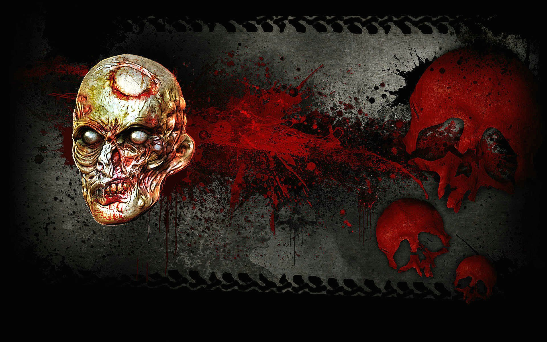 bloody skull wallpaper related - photo #40