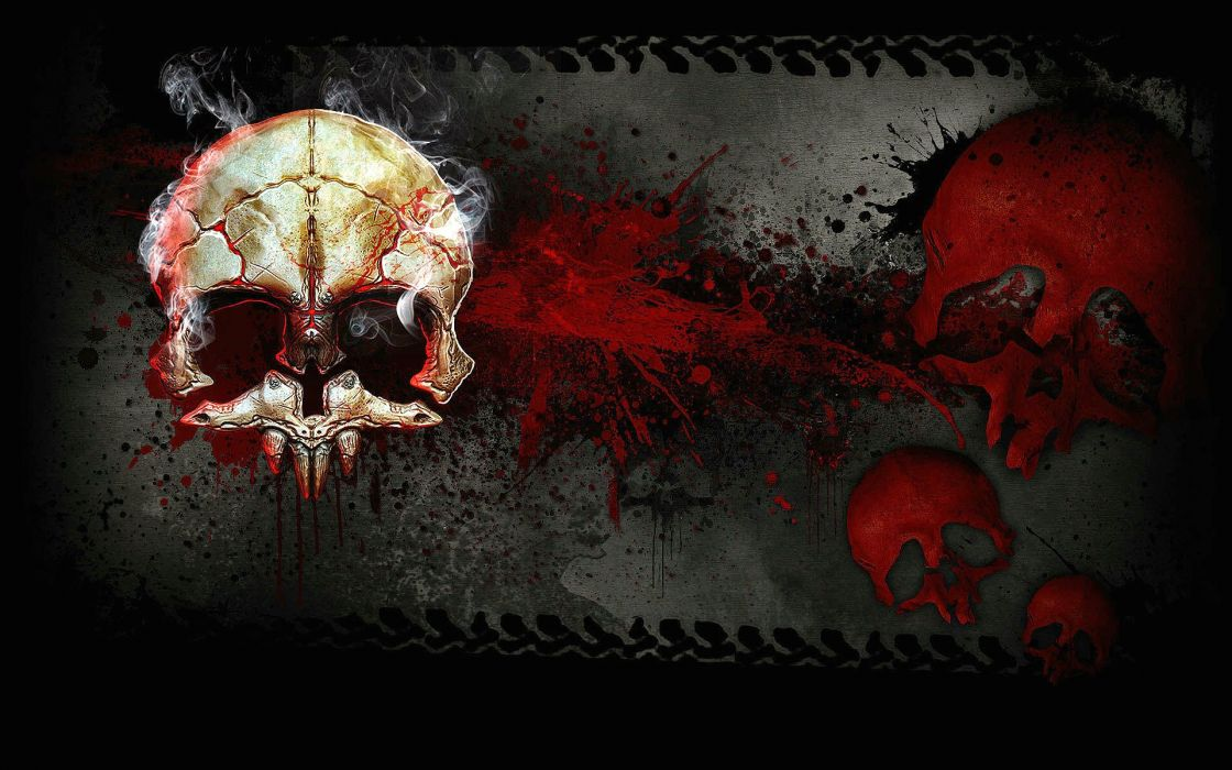 ZOMBIE DRIVER action adventure racing race fighting vehicular combat horror blood skull wallpaper