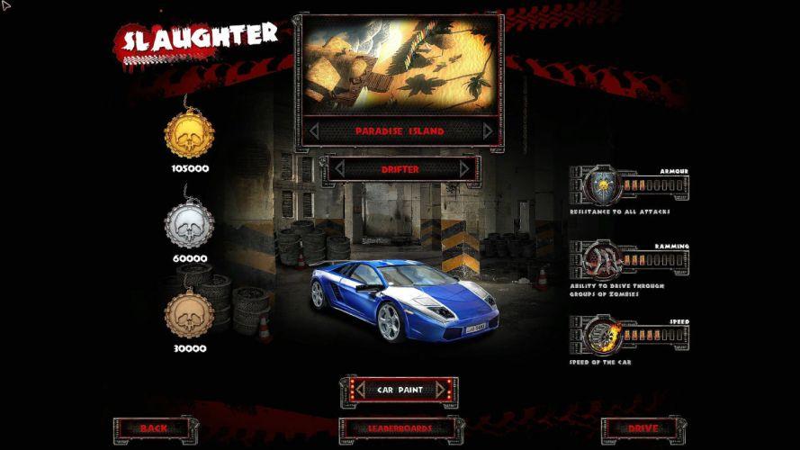 ZOMBIE DRIVER action adventure racing race fighting vehicular combat horror wallpaper