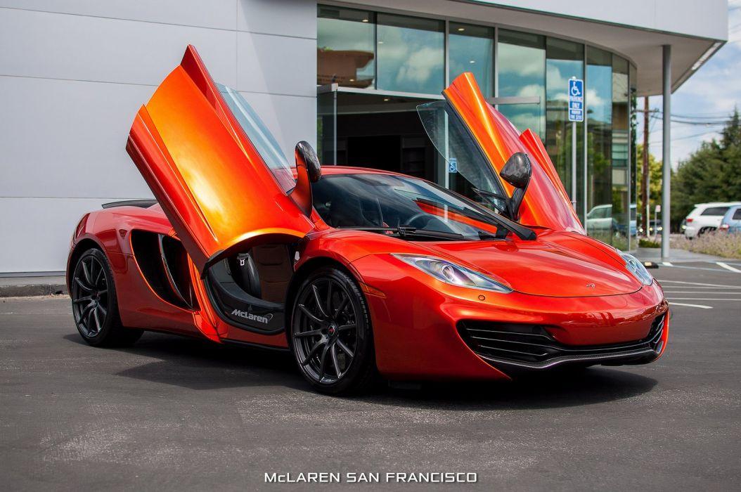 12c McLaren mp4 Supercar color Volcano Orange 1706 wallpaper