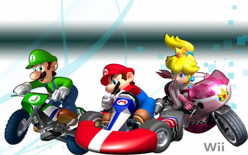 MARIO KART nintendo go-kart race racing family wallpaper