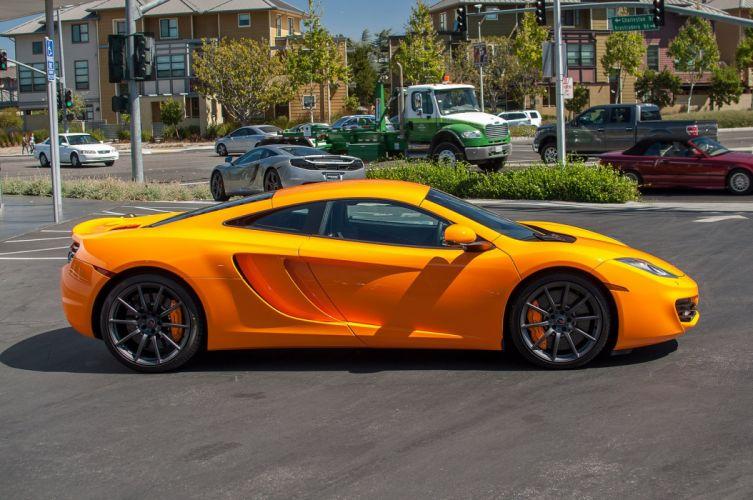 12c McLaren mp4 Supercar color Orange 302 wallpaper