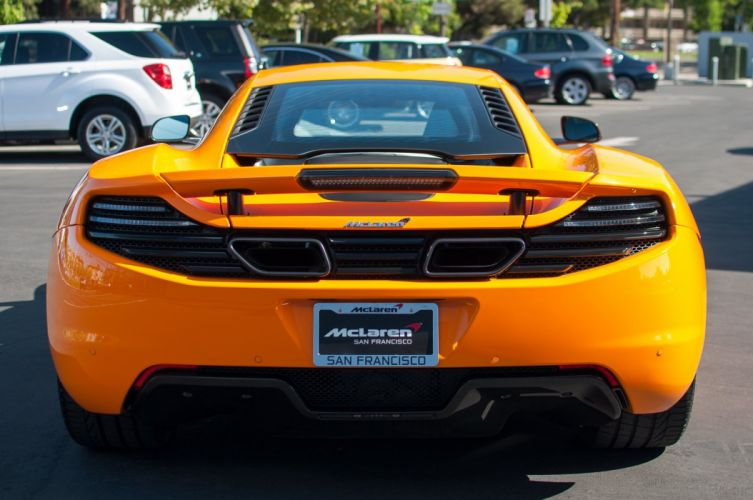 12c McLaren mp4 Supercar color Orange 303 wallpaper