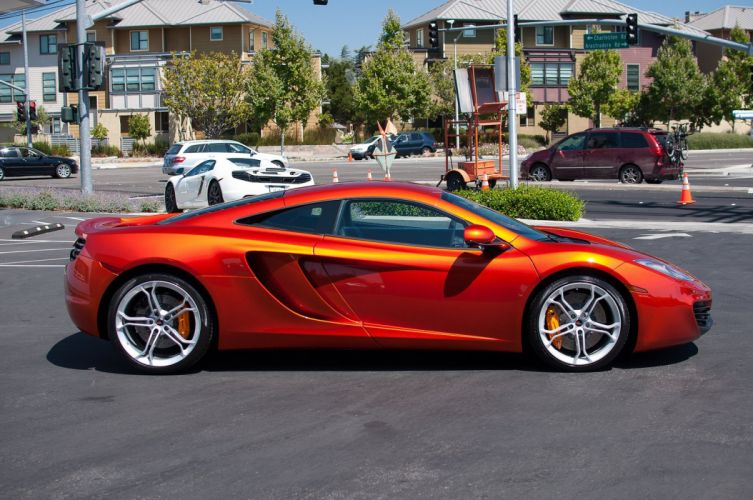 12c McLaren mp4 Supercar color Volcano Orange 198 wallpaper