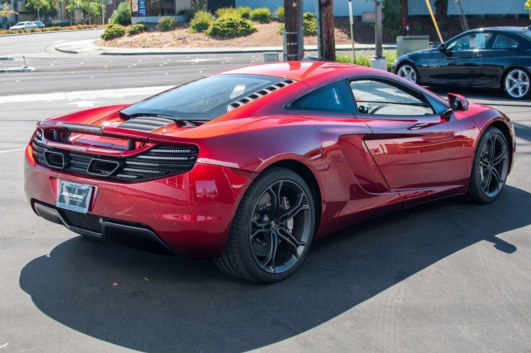 12c McLaren mp4 Supercar color Volcano Red 1835 wallpaper