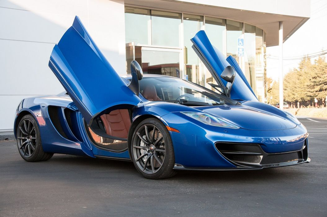 12c mclaren mp4 supercar color azure blue 1398 wallpaper | 1600x1063