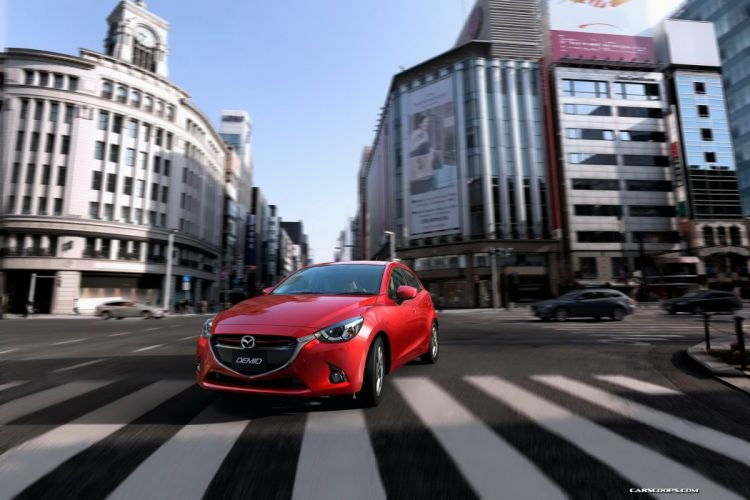 2014 mazda2 4 doors compact japan car wallpaper