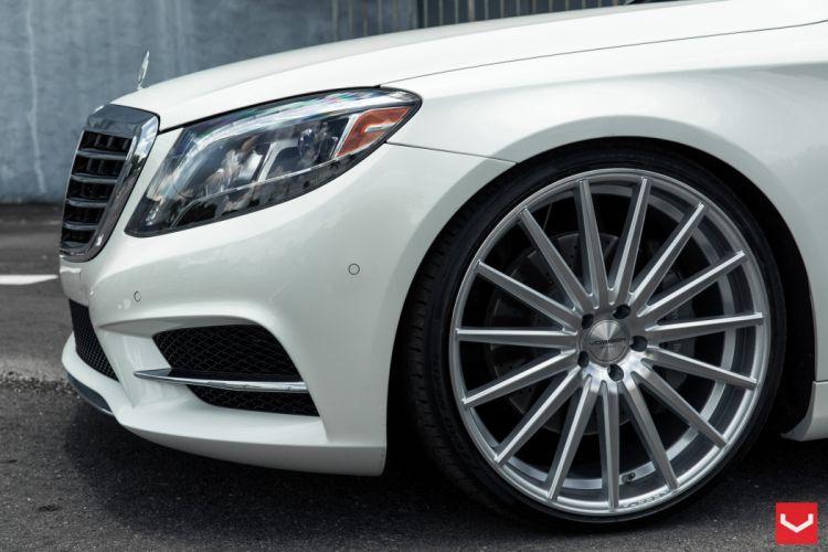 Mercedes S550 vossen wheels tuning white wallpaper
