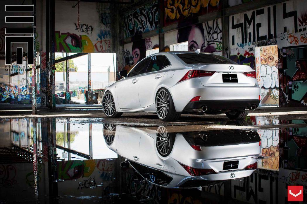 lexus is vossen wheels tuning wallpaper