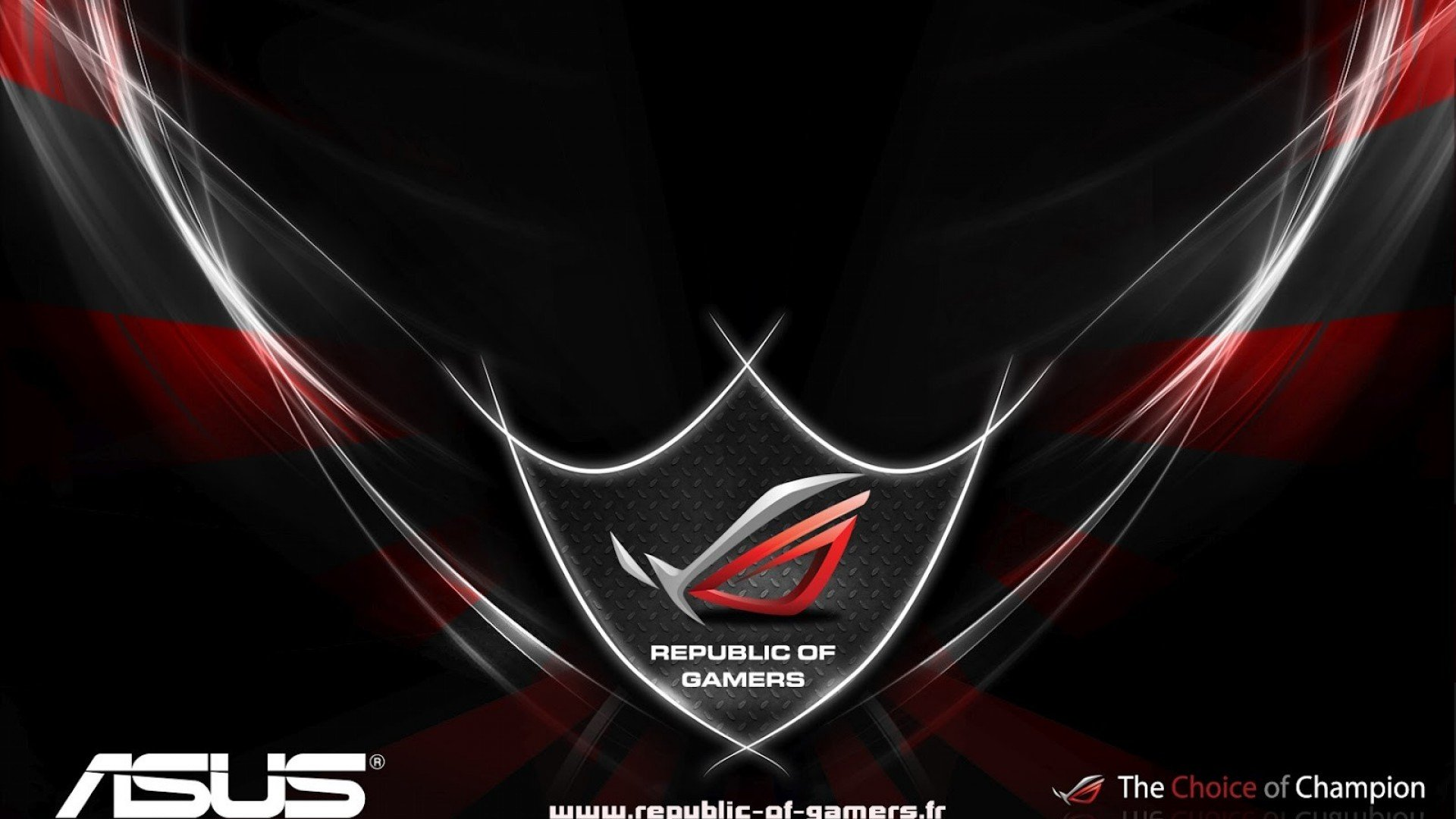 Asus Republic Of Game Logo Hd Wallpaper Wallpaper Gallery