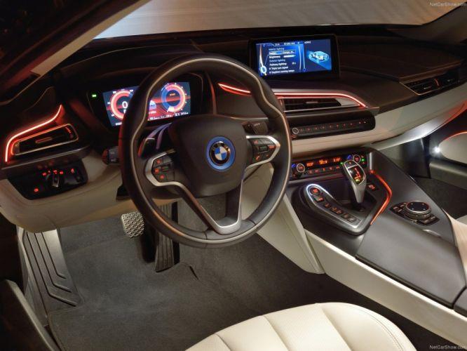 2014 BMW i 8 Supercar hybrid interior wallpaper