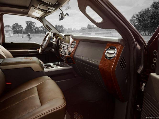 2014 Ford Super Duty SUV pick up interior wallpaper