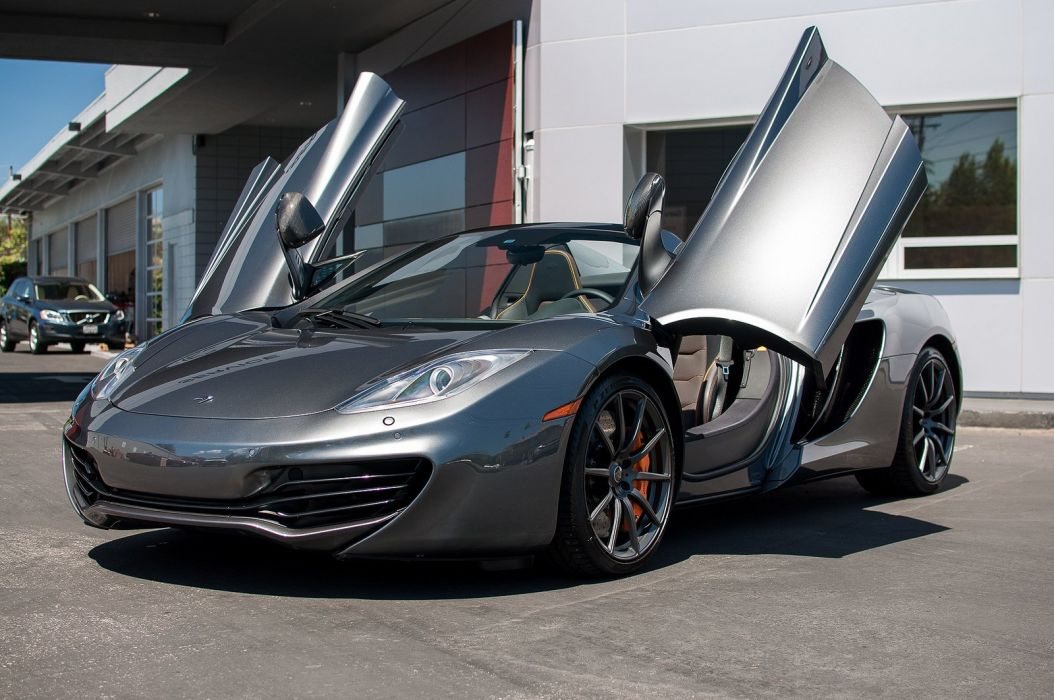 12c color McLaren mp4 Supercar spider Graphite Grey  wallpaper