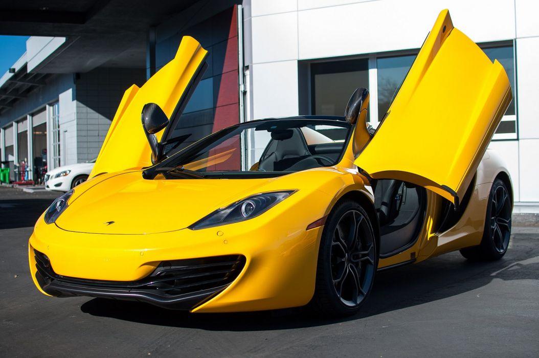 12c color McLaren mp4 Supercar spider Volcano Yellow  wallpaper