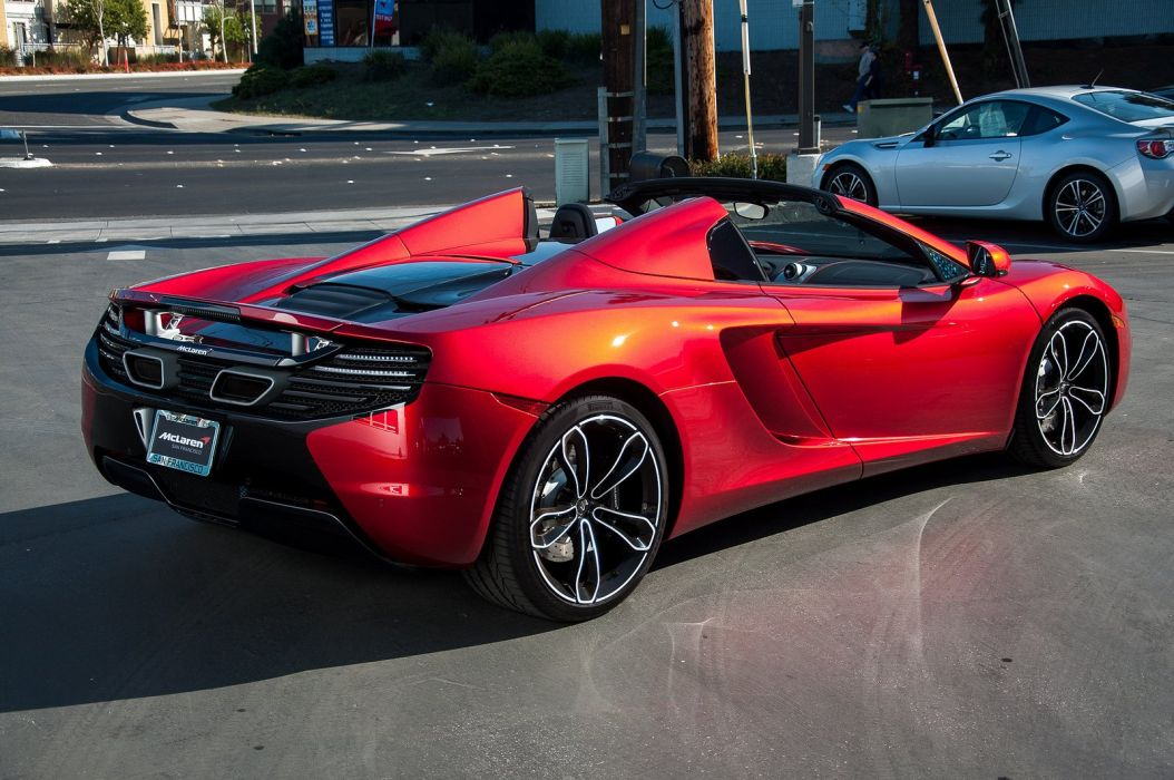 12c color McLaren mp4 Supercar spider Volcano Red wallpaper