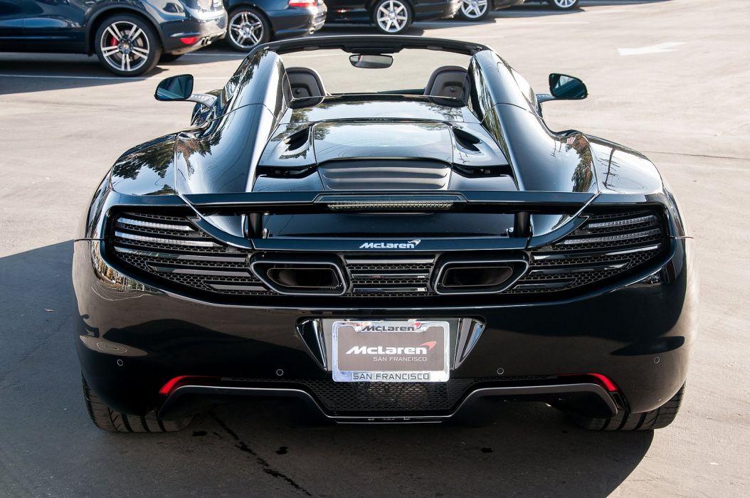 12c color McLaren mp4 Supercar spider Carbon Black wallpaper