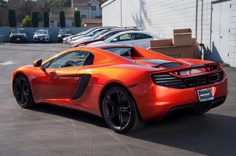 12c color McLaren mp4 Supercar spider Volcano Orange wallpaper