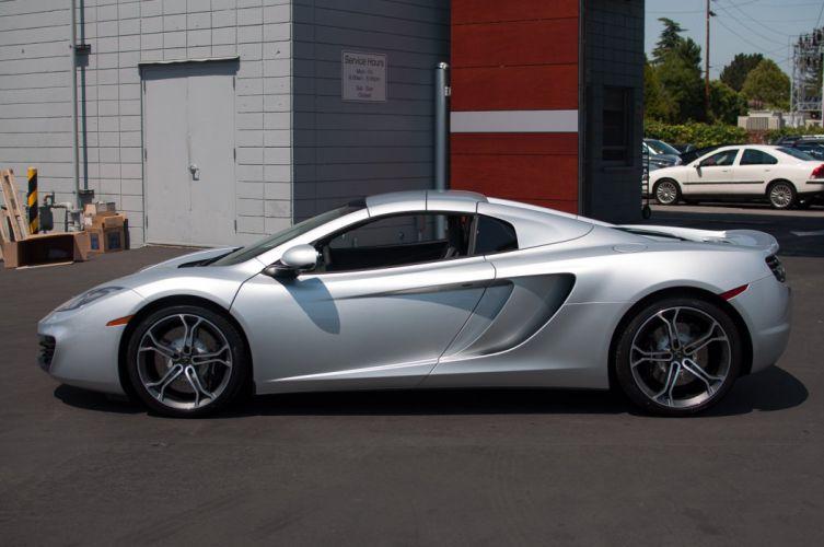 12c color McLaren mp4 Supercar spider silver wallpaper