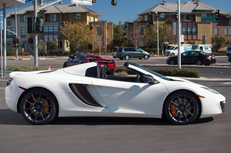 12c color McLaren mp4 Supercar spider white blanc wallpaper